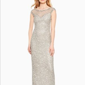 Full length Parker gown with sequins all over.
